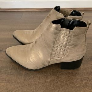 Never-Been-Worn Studded Taupe Bootie